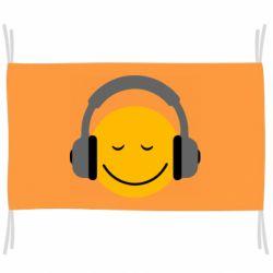 Флаг Smile in the headphones