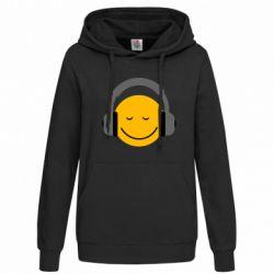 Женская толстовка Smile in the headphones