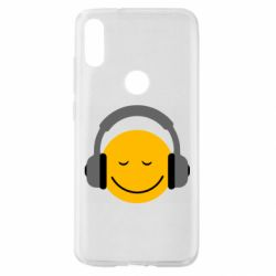 Чехол для Xiaomi Mi Play Smile in the headphones