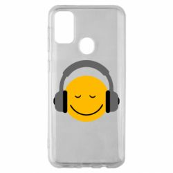 Чехол для Samsung M30s Smile in the headphones