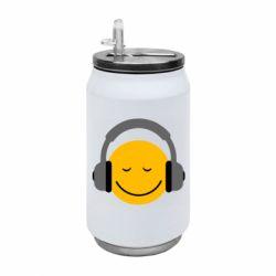 Термобанка 350ml Smile in the headphones