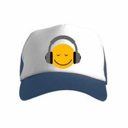 Детская кепка-тракер Smile in the headphones