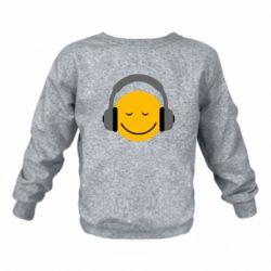 Детский реглан (свитшот) Smile in the headphones