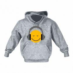 Детская толстовка Smile in the headphones