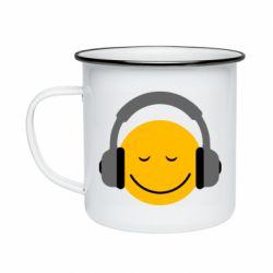 Кружка эмалированная Smile in the headphones