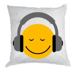 Подушка Smile in the headphones