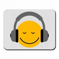 Коврик для мыши Smile in the headphones