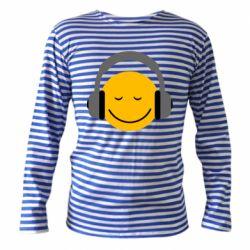 Тельняшка с длинным рукавом Smile in the headphones