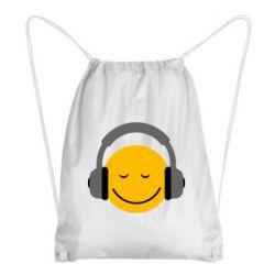 Рюкзак-мешок Smile in the headphones