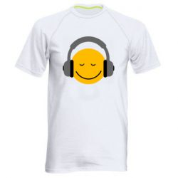 Мужская спортивная футболка Smile in the headphones