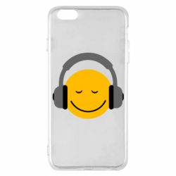 Чехол для iPhone 6 Plus/6S Plus Smile in the headphones