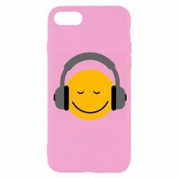 Чехол для iPhone 7 Smile in the headphones
