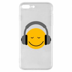 Чехол для iPhone 7 Plus Smile in the headphones