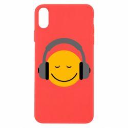 Чехол для iPhone X/Xs Smile in the headphones
