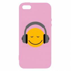 Чехол для iPhone5/5S/SE Smile in the headphones