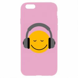 Чехол для iPhone 6/6S Smile in the headphones