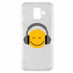Чехол для Samsung A6 2018 Smile in the headphones