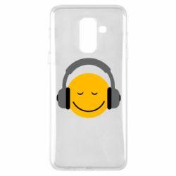 Чехол для Samsung A6+ 2018 Smile in the headphones