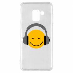 Чехол для Samsung A8 2018 Smile in the headphones