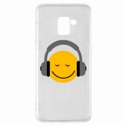 Чехол для Samsung A8+ 2018 Smile in the headphones