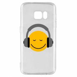 Чехол для Samsung S7 Smile in the headphones