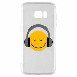 Чехол для Samsung S7 EDGE Smile in the headphones