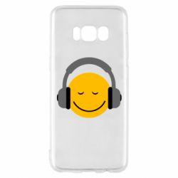 Чехол для Samsung S8 Smile in the headphones