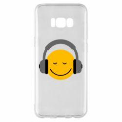Чехол для Samsung S8+ Smile in the headphones