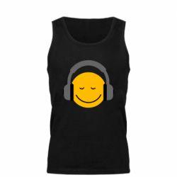 Мужская майка Smile in the headphones