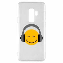 Чехол для Samsung S9+ Smile in the headphones