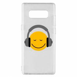 Чехол для Samsung Note 8 Smile in the headphones