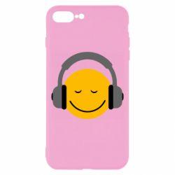 Чехол для iPhone 8 Plus Smile in the headphones