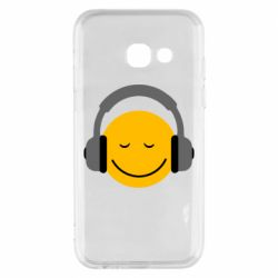 Чехол для Samsung A3 2017 Smile in the headphones