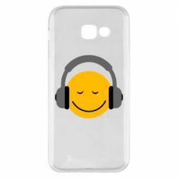 Чехол для Samsung A5 2017 Smile in the headphones