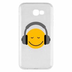 Чехол для Samsung A7 2017 Smile in the headphones