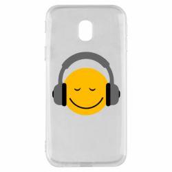 Чехол для Samsung J3 2017 Smile in the headphones