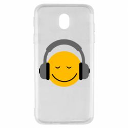 Чехол для Samsung J7 2017 Smile in the headphones