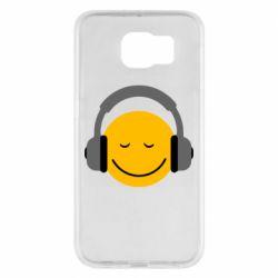 Чехол для Samsung S6 Smile in the headphones