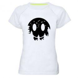 Жіноча спортивна футболка Smiley Moon