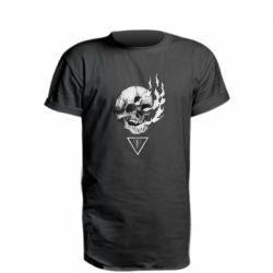 Подовжена футболка Smoke from the skull