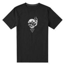 Чоловіча стрейчева футболка Smoke from the skull