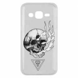 Чохол для Samsung J2 2015 Smoke from the skull