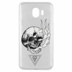 Чохол для Samsung J4 Smoke from the skull