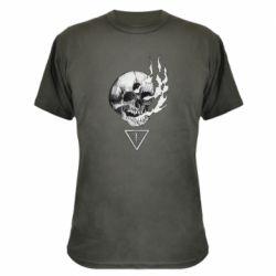 Камуфляжна футболка Smoke from the skull