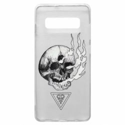 Чохол для Samsung S10+ Smoke from the skull