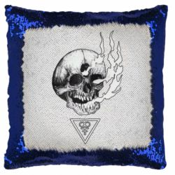 Подушка-хамелеон Smoke from the skull