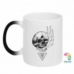 Кружка-хамелеон Smoke from the skull