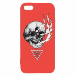 Чохол для iphone 5/5S/SE Smoke from the skull