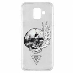 Чохол для Samsung A6 2018 Smoke from the skull
