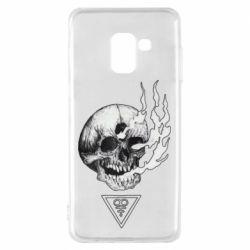 Чохол для Samsung A8 2018 Smoke from the skull